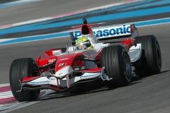 F1 2007 - Ralf Schumacher Toyota Fotografering för Bildbyråer