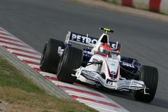 F1 2007 - Robert Kubica BMW Sauber Stock Photography