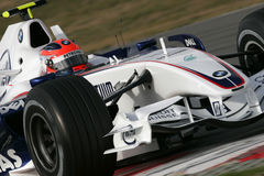 F1 2007 - Robert Kubica BMW Sauber Royalty Free Stock Photos