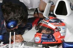 F1 2007 - Robert Kubica BMW Sauber Στοκ φωτογραφίες με δικαίωμα ελεύθερης χρήσης