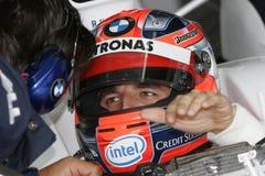 F1 2007 - Robert Kubica BMW Sauber Royaltyfri Foto