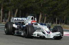 F1 2007 - Robert Kubica BMW Sauber Royaltyfri Fotografi