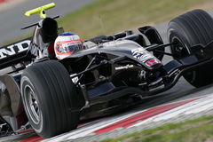F1 2007 - Rubens Barrichello Honda Royalty Free Stock Photos