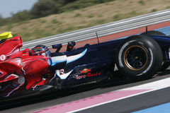 F1 2007 - Scott hastighet Toro Rosso Fotografering för Bildbyråer