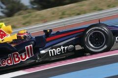 F1 2007 - Teken Webber Red Bull Stock Fotografie