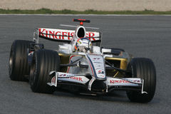F1 2008 - Adrian Sutil Force India royalty free stock images