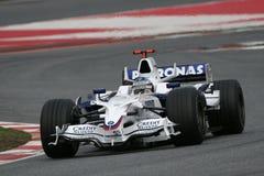 F1 2008 - BMW Sauber van Heidfeld van de Inkeping Stock Afbeeldingen