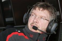 F1 2008 - Brawn Honda de Ross fotos de stock royalty free