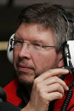 F1 2008 - Brawn Honda de Ross imagens de stock