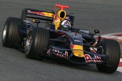 F1 2008 - David Coulthard Red Bull Royalty-vrije Stock Afbeeldingen