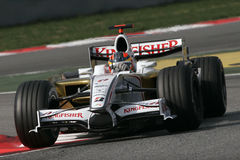 F1 2008 - de Kracht India van Vitantonio Liuzzi Royalty-vrije Stock Afbeelding
