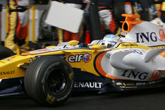 F1 2008 - Fernando Alonso Renault Royalty Free Stock Images