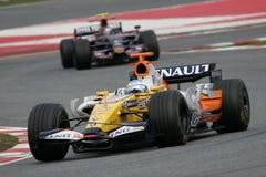 F1 2008 - Fernando Alonso Renault Photos libres de droits