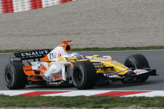 F1 2008 - Fernando Alonso Renault Photo libre de droits