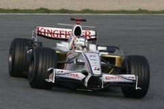 F1 2008 - Fuerza la India de Adrian Sutil Imágenes de archivo libres de regalías