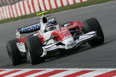 F1 2008 - Jarno Trulli Toyota Royalty Free Stock Photography