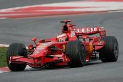 F1 2008 - Kimi Raikkonen Ferrari Royalty Free Stock Images