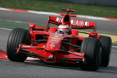 F1 2008 - Kimi Raikkonen Ferrari Photos stock