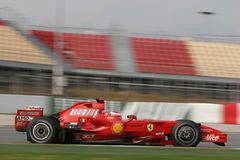F1 2008 - Kimi Raikkonen Ferrari Stock Afbeelding