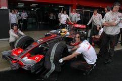 F1 2008 - Lewis Hamilton McLaren Royalty Free Stock Photo
