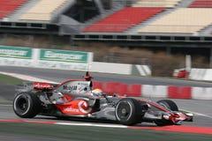 F1 2008 - Lewis Hamilton McLaren Royalty Free Stock Image