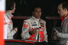 F1 2008 - Lewis Hamilton McLaren royalty free stock photo