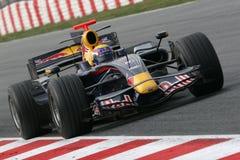 F1 2008 - Markieren Sie Webber Red Bull Lizenzfreie Stockfotos