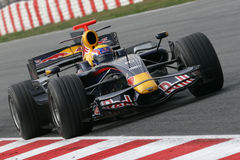 F1 2008 - Marque Webber Red Bull Fotos de Stock Royalty Free