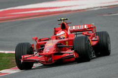 F1 2008 - Michael Schumacher Ferrari Fotos de Stock Royalty Free
