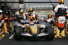 F1 2008 - Nelson Piquet Renault Royalty Free Stock Photo