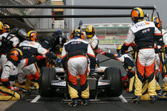 F1 2008 - Nelson Piquet Renault Stock Image