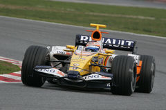 F1 2008 - Nelson Piquet Renault Stock Photo