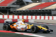 F1 2008 - Nelson Piquet Renault Stock Photos