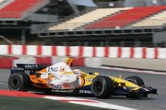 F1 2008 - Nelson Piquet Renault Stock Photos
