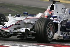 F1 2008 - Robert Kubica BMW Sauber Royalty Free Stock Photos