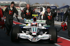 F1 2008 - Rubens Barrichello Honda Royalty Free Stock Photography