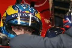 F1 2008 - Sebastien Bourdais Toro Rosso. Sebastien Bourdais, Toro Rosso STR3 during Formula One test in Barcelona - February 2008 Royalty Free Stock Photo