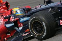 F1 2008 - Sebastien Bourdais Toro Rosso. Sebastien Bourdais, Toro Rosso STR3 during Formula One test in Barcelona - February 2008 Stock Photos