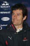 F1 2008 - Teken Webber Red Bull Stock Fotografie