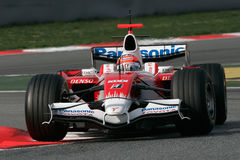F1 2008 - Timo Glock Toyota Photo stock