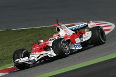 F1 2008 - Timo Glock Toyota Stock Photography