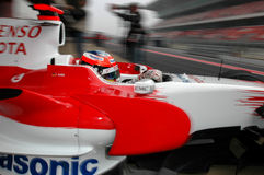 F1 2008 - Timo Glock Toyota Royalty Free Stock Photography