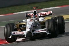 F1 2008 - Vitantonio Liuzzi Force India. Vitantonio Liuzzi, Force India VJM01 during Formula One test in Barcelona - February 2008 Royalty Free Stock Image