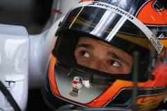 F1 2008 - Vitantonio Liuzzi Kraft Indien Lizenzfreie Stockbilder