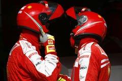 F1 2009 - Atmospere de Scuderia Ferrari Fotos de Stock Royalty Free