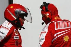 F1 2009 - Atmospere de Scuderia Ferrari Foto de Stock