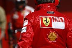 F1 2009 - Atmospere di Scuderia Ferrari Immagine Stock Libera da Diritti