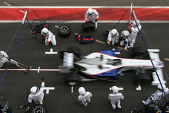 F1 2009 - BMW Sauber van Heidfeld van de Inkeping Royalty-vrije Stock Afbeeldingen