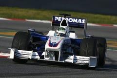 F1 2009 - BMW Sauber van Heidfeld van de Inkeping Stock Afbeeldingen