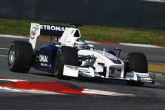 F1 2009 - BMW Sauber van Heidfeld van de Inkeping Stock Afbeelding